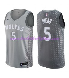 Minnesota Timberwolves Trikot Herren 2018-19 Karl Gorgui Dieng 5# City Edition Basketball Trikots NB..